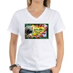 A Bountiful Thanksgiving Women's V-Neck T-Shirt