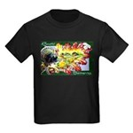 A Bountiful Thanksgiving Kids Dark T-Shirt