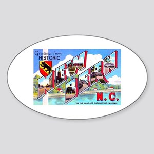 New Bern North Carolina Oval Sticker