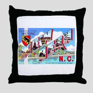 New Bern North Carolina Throw Pillow