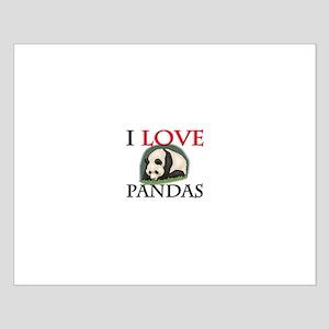 I Love Pandas Small Poster