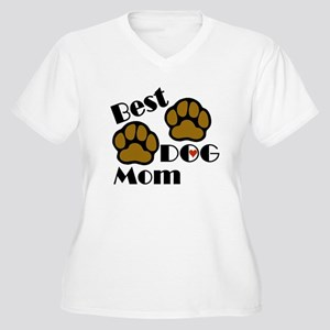 Best Dog Mom Women's Plus Size V-Neck T-Shirt