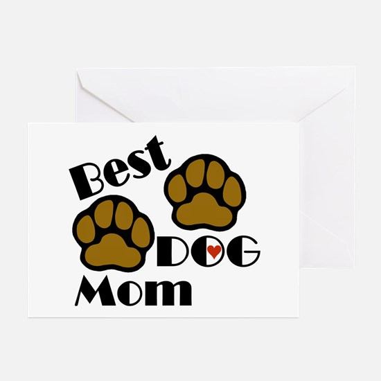Best Dog Mom Greeting Cards (Pk of 10)