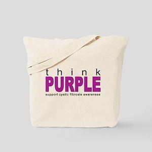 Think Purple: Cystic Fibrosis Tote Bag
