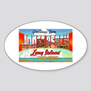 Jones Beach Long Island Oval Sticker