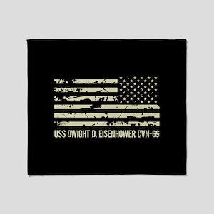 USS Dwight D. Eisenhower Throw Blanket
