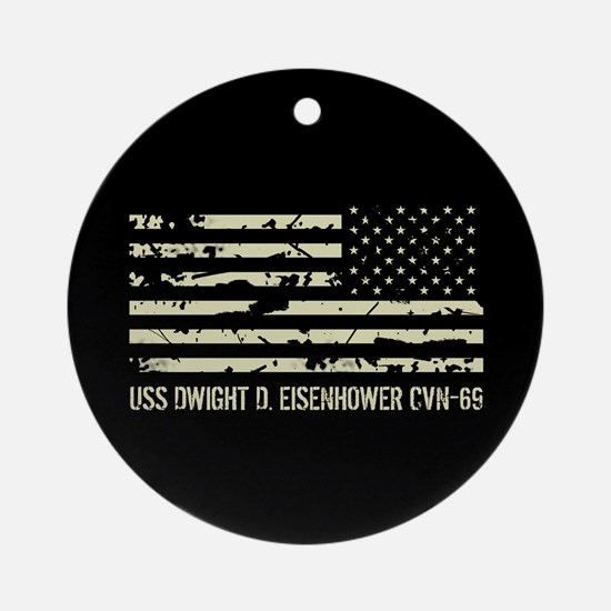 USS Dwight D. Eisenhower Round Ornament