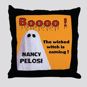 SHE SCARES ME Throw Pillow