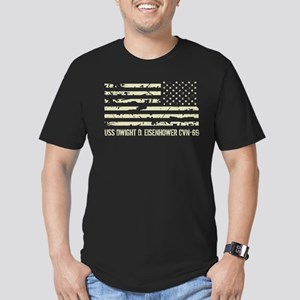 USS Dwight D. Eisenhow Men's Fitted T-Shirt (dark)