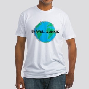 Travel Junkie Fitted T-Shirt