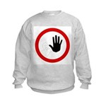 Restricted Access Sign Kids Sweatshirt