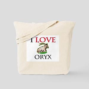 I Love Oryx Tote Bag
