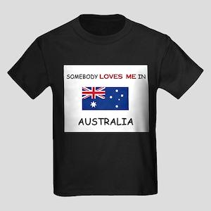 Somebody Loves Me In AUSTRALIA Kids Dark T-Shirt