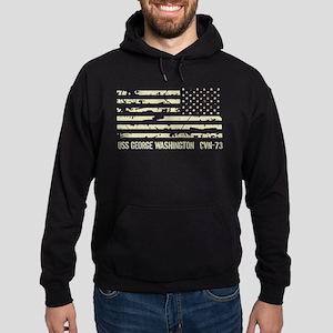 USS George Washington Hoodie (dark)