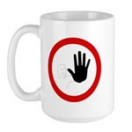 Restricted Access Sign - Large Mug