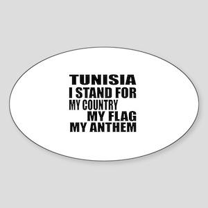 I Stand For Tunisia Sticker (Oval)