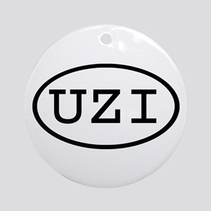 UZI Oval Ornament (Round)