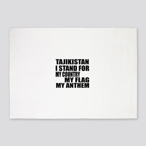 I Stand For Tajikistan 5'x7'Area Rug