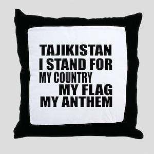I Stand For Tajikistan Throw Pillow