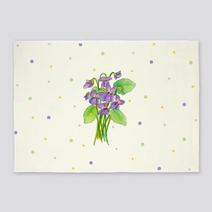 Wild Violets 5'x7'Area Rug