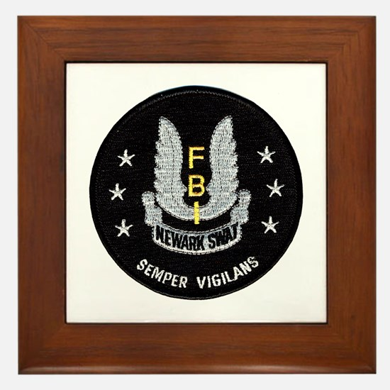 FBI Newark SWAT Framed Tile