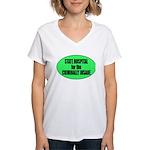 Psycho Lockup Women's V-Neck T-Shirt