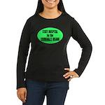 Psycho Lockup Women's Long Sleeve Dark T-Shirt