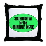 Psycho Lockup Throw Pillow