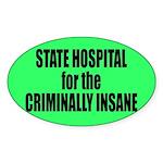 Psycho Lockup Oval Sticker
