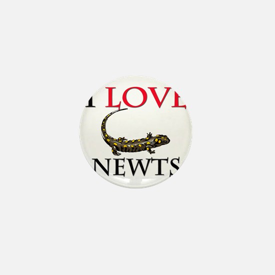 I Love Newts Mini Button