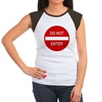 Do Not Enter Sign Women's Cap Sleeve T-Shirt