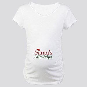 Santa's Little Helper Maternity T-Shirt