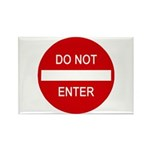 Do Not Enter Sign Rectangle Magnet (10 pack)