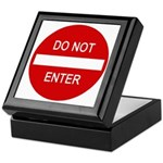 Do Not Enter Sign Keepsake Box