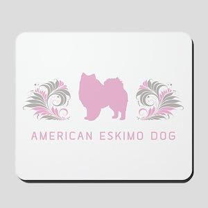 """Elegant"" American Eskimo Dog Mousepad"