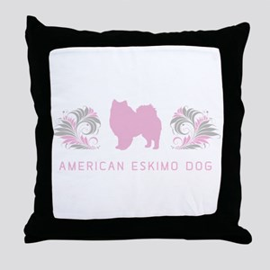 """Elegant"" American Eskimo Dog Throw Pillow"
