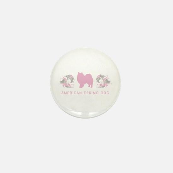 """""""Elegant"""" American Eskimo Dog Mini Button"""