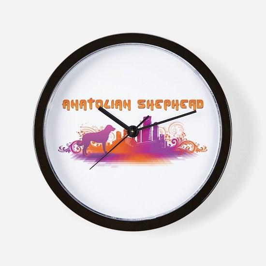 """City"" Anatolian Shepherd Wall Clock"