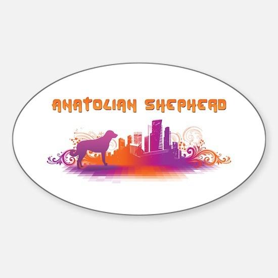 """City"" Anatolian Shepherd Oval Decal"