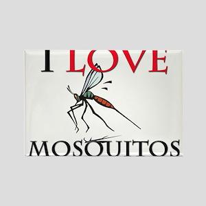 I Love Mosquitos Rectangle Magnet