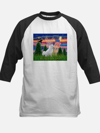 Blessed / Eskimo Spitz Kids Baseball Jersey