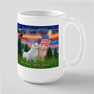 Blessed / Eskimo Spitz Large Mug