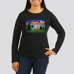 Blessed / Eskimo Spitz Women's Long Sleeve Dark T-
