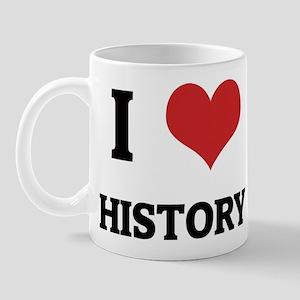 I Love History Mug