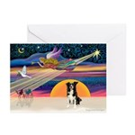 XmsMagic-BorderCollie Greeting Cards (Pk of 20)