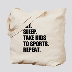 Take Kids to Sports and Repeat Tote Bag