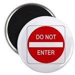 "Do Not Enter Sign - 2.25"" Magnet (100 pack)"