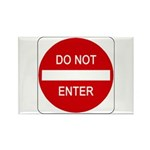 Do Not Enter Sign - Rectangle Magnet (10 pack)
