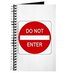 Do Not Enter Sign - Journal