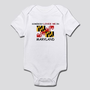 Somebody Loves Me In MARYLAND Infant Bodysuit